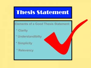 Good thesis statements about education